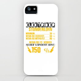 Electrician Hourly Wage And Rate iPhone Case