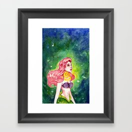 The Little Mermaid - Ariel watercolor Framed Art Print