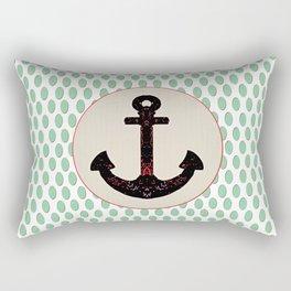 Anchor Aqua Drop Pattern Rectangular Pillow