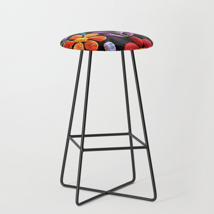 Mexican Flowers Bar Stool