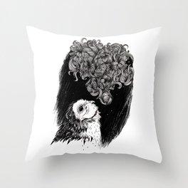 Owl Smoke Throw Pillow