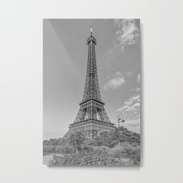 Idyllic Paris view | monochrome Metal Print