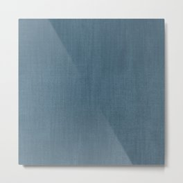 Blue Indigo Denim Metal Print