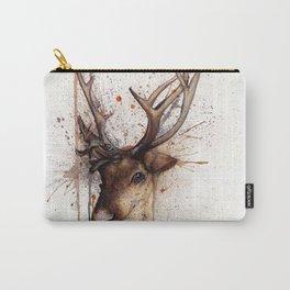 Splatter Paint Reindeer Carry-All Pouch