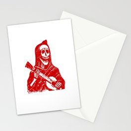 Grim Reaper With Guitar Stationery Cards