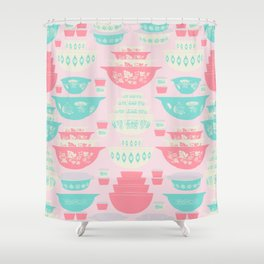 Pink and Turquoise Everything Shower Curtain
