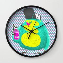 Monkey Pink Nose Wall Clock