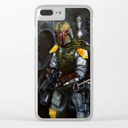 BobaFett of the 501st Legion fan art Clear iPhone Case