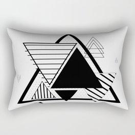 Triangle Geometric Elements Rectangular Pillow
