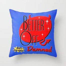 Retro Damned Throw Pillow