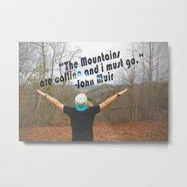 Mountains John Muir Metal Print