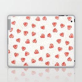 Sparkly hearts Laptop & iPad Skin