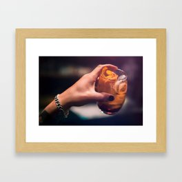 Cocktaill Style in Hand Framed Art Print