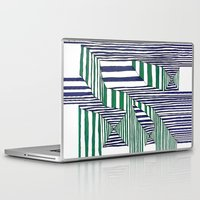 stripes Laptop & iPad Skins featuring Stripes by Take F1ve