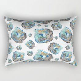 Opal October Birthstone Watercolor Illustration Rectangular Pillow