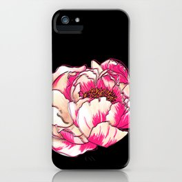 Bright Peony iPhone Case