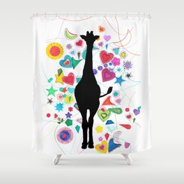 Giraffe World Shower Curtain