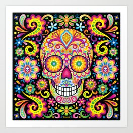 Sugar Skull Art (Spark) Art Print