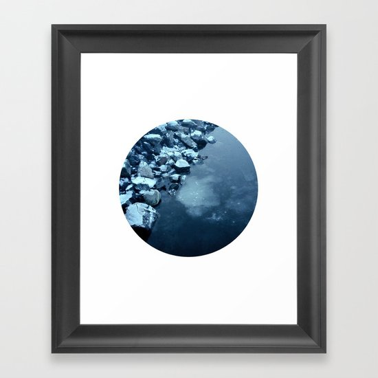 Telescope 10 ice  Framed Art Print