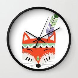 Fox  Art Printable Wall Clock