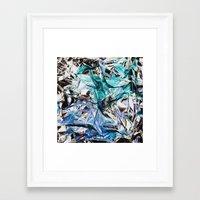 metallic Framed Art Prints featuring Metallic by Lara Gurney