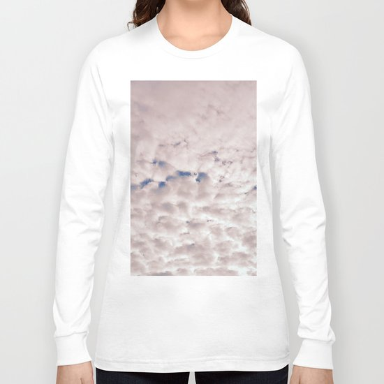 Pink Cotton Candy Clouds Long Sleeve T-shirt