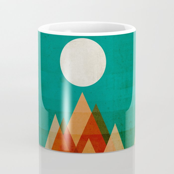 Full moon over Sahara desert Coffee Mug
