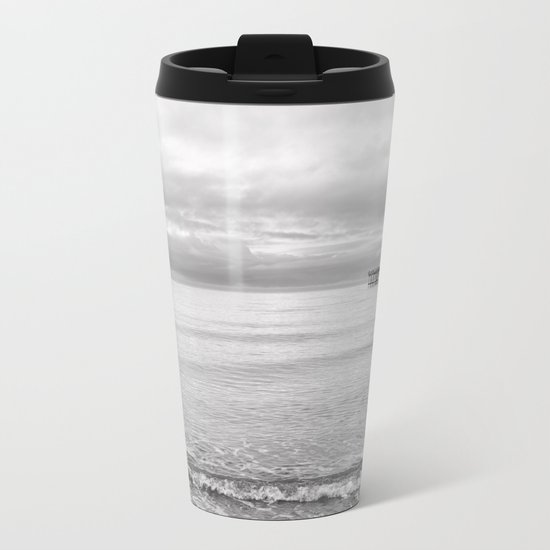 Serenity 2 B&W Metal Travel Mug