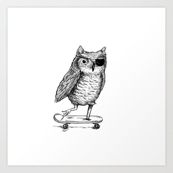 Ride On Owl Art Print