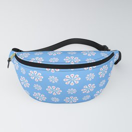 geometric flower 60 blue and pink Fanny Pack