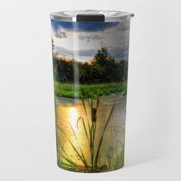 Sunset Over the Marsh Travel Mug