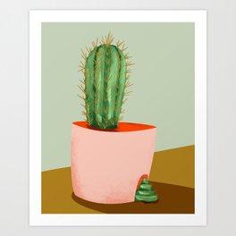 funny cactus Art Print