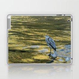 Great Blue Heron on a Golden River Laptop & iPad Skin
