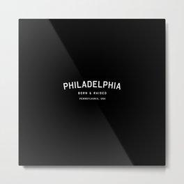 Philadephia - PA, USA (Black Arc) Metal Print