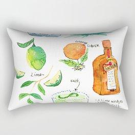 Classic Margarita Cocktail Recipe Rectangular Pillow