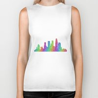 los angeles Biker Tanks featuring Los Angeles by David Zydd