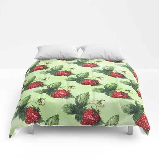Strawberry Pattern- Strawberries fruits Comforters