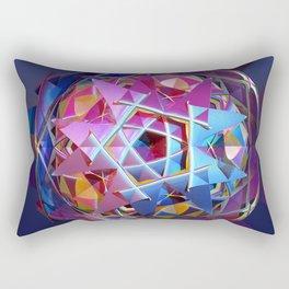 Colorful metallic orb Rectangular Pillow