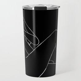line art 5 Travel Mug