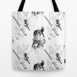 woman wolf pattern Tote Bag