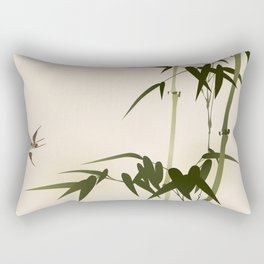 Oriental style bamboo branches 001 Rectangular Pillow