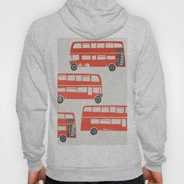 London Double Decker Red Bus Hoody