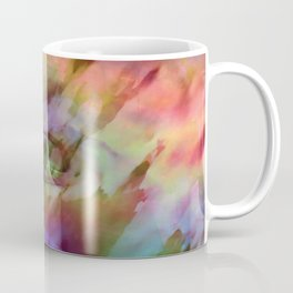 Rainbow Rose Floral Abstract Coffee Mug