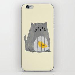 A cat that swallows a bird iPhone Skin