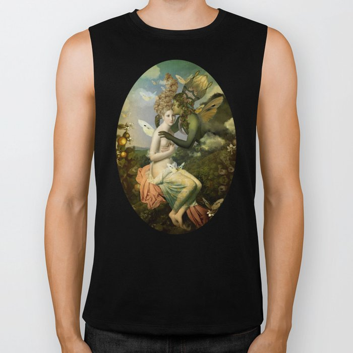 """""""The body, the soul and the garden of love"""" Biker Tank"""
