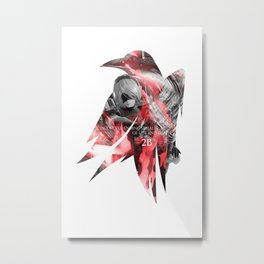 Raven's cloak Yorha 2B thoughts Metal Print