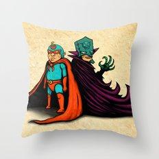 Good vs Evil Throw Pillow