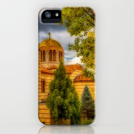 Autumn at Holy Cross Greek iPhone Case