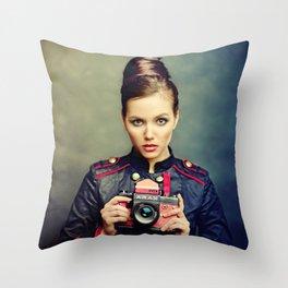 Camera Beauty Arax Throw Pillow
