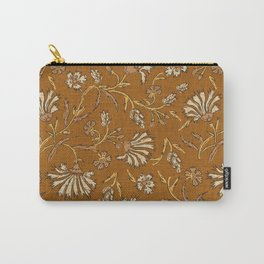 KALAMI FLORAL MUSTARD Carry-All Pouch